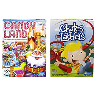 Hasbro Candyland and Chutes and Ladders Board Games: Toys & Games