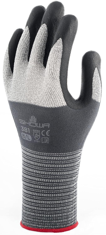 Showa SHO3811 381 Gripper Gloves, Single Pair, Size 6/Small, Grey/White/Black 381S