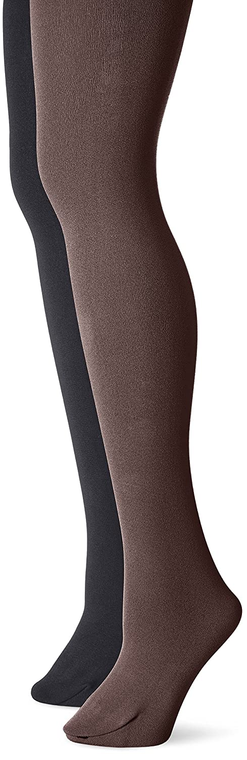 f9f4b83cb1fca Muk Luks Women's Fleece Lined 2-Pair Pack Tights at Amazon Women's Clothing  store: