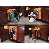 CRYSTAL L&D Multi-use Pull Out Cabinet Organizer -Hanging Kitchen Utensils, Cleaning, Beauty, Grill, Tools & More-