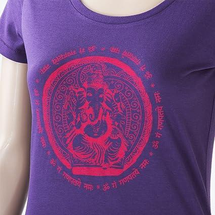 Bodhi Yoga Camiseta Mujer Ganesha, 100% de algodón ecológico ...