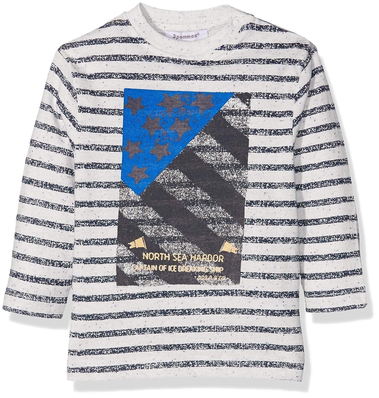 3 Pommes Baby Boys' Blue Iceberg T-Shirt (Broken White) 9-12 Months 3Pommes 3I10043
