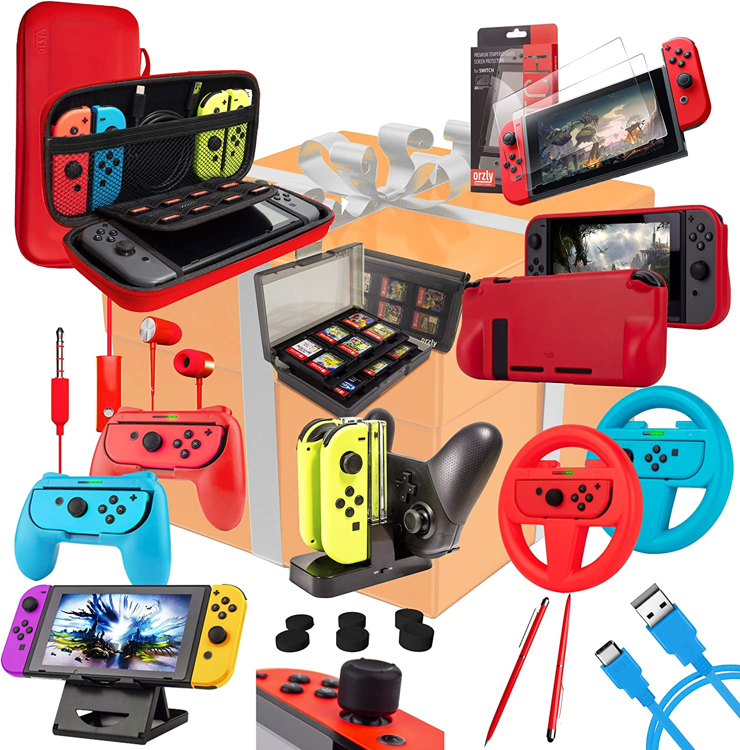 A bundle with the most common Switch accessories, like a grip,stand,case,screen protector,etc.
