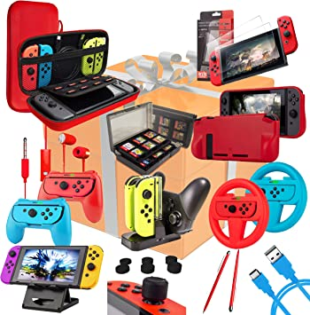 Orzly Kit Accesorios para Nintendo Switch Geek Pack con: Funda y ...