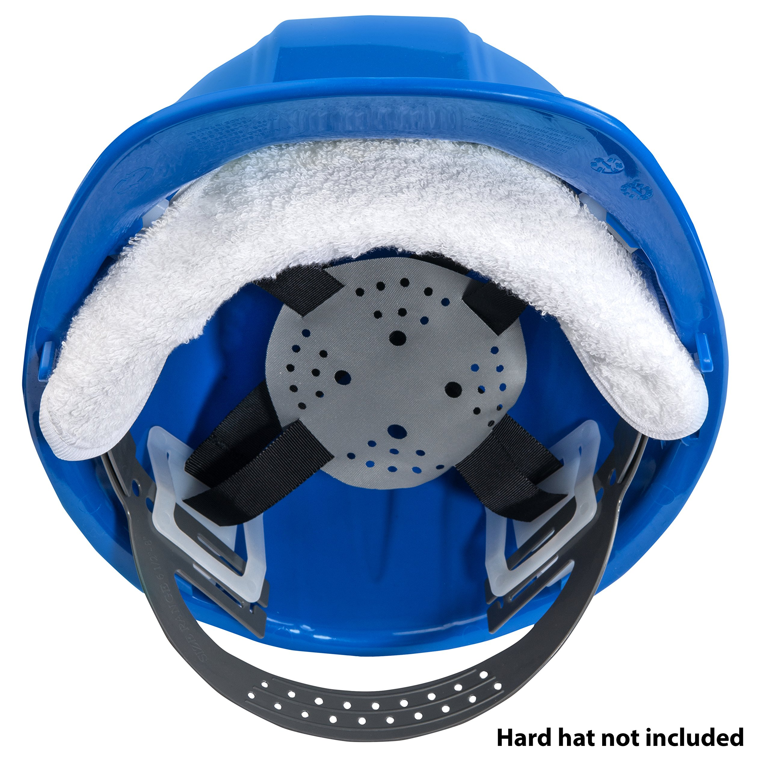 THREE Cotton Sweatbands for hard hats SOFT COTTON - EASY VELCRO ATTACHMENT - BEST VALUE - WASHABLE AND ESPECIALLY EASY TO ATTACH TO HARD HATS. by Paulex Solutions (Image #5)