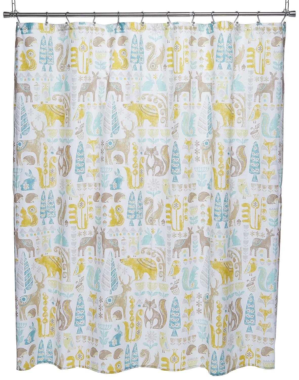 Amazon INK IVY Kids Woodland Cotton Shower Curtain 72x72 Aqua 72 X Home Kitchen