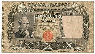 Cartamoneta.com 500 Lire BANCO di Napoli Biglietto al Portatore 13/12/1914 BB