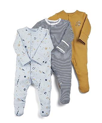 77a0078f9e Mamas   Papas Baby Boys  Sleepsuits pack of 3  Amazon.co.uk  Clothing