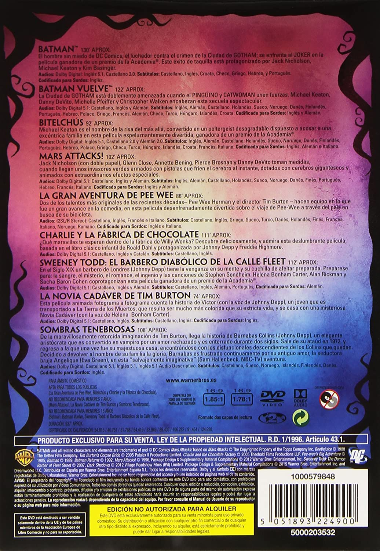 Pack Tim Burton [DVD]: Amazon.es: Val Kilmer, Jack Nicholson, Johnny Depp, Joel Schumacher, Tim Burton, Val Kilmer, Jack Nicholson, Bob Kane, Len Brown, John Logan: Cine y Series TV