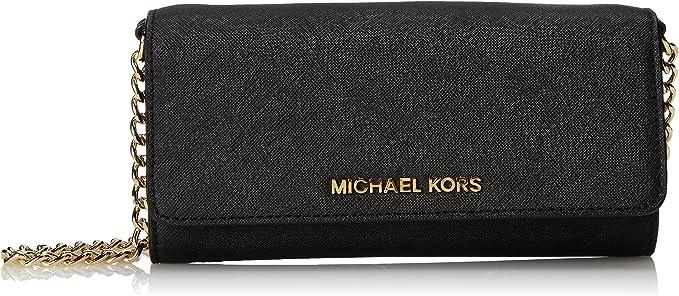 Borse Michael Michael Kors Jet Set Wallet on a chain Oro e