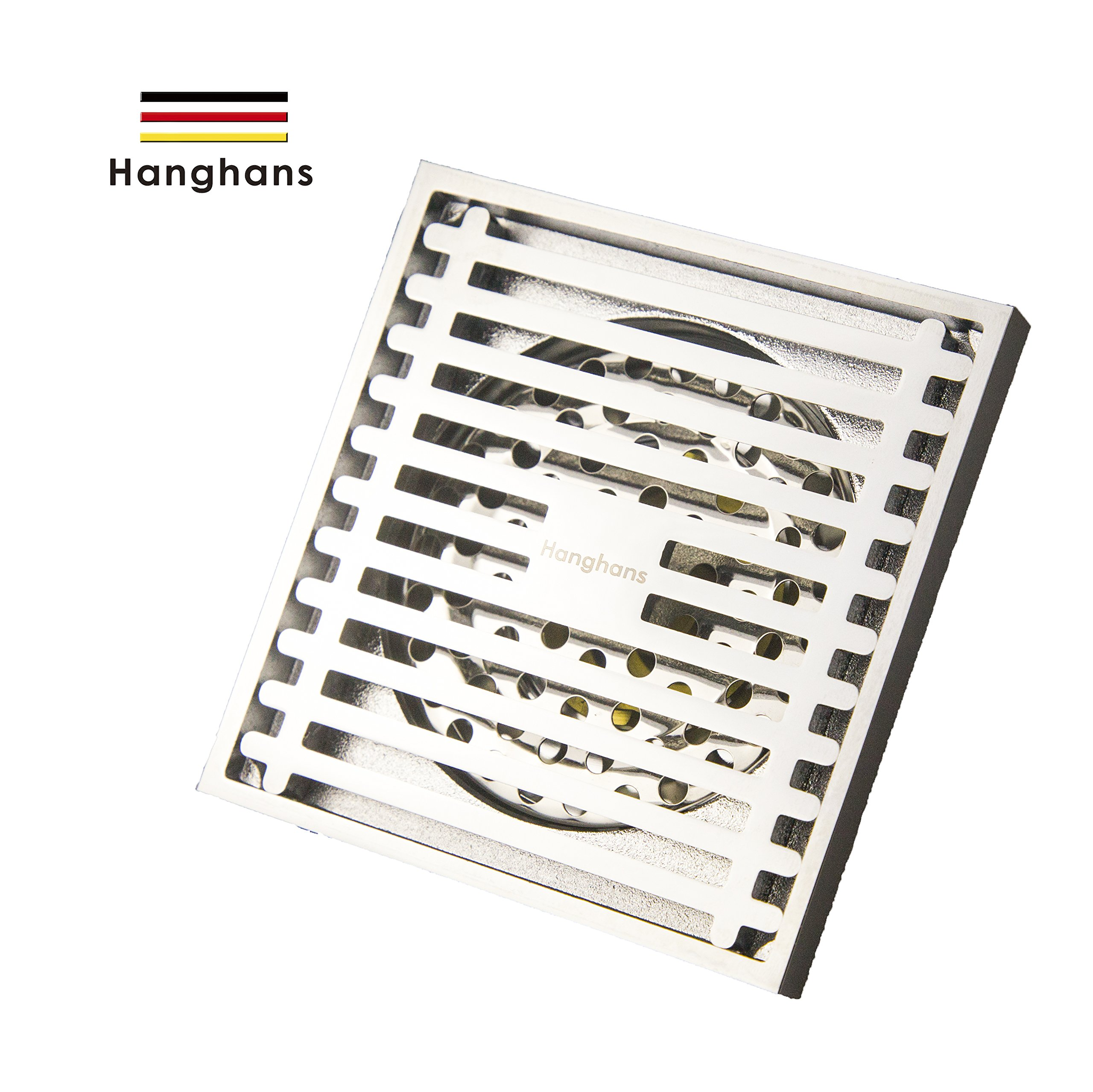 Ducky Square Shower Floor Drain,Bathroom Tile Insert Floor Drainer with Removable Strainer Cover Chrome Finish Anti-clogging for Kitchen, Washroom, Garage and Baseme (chrome)