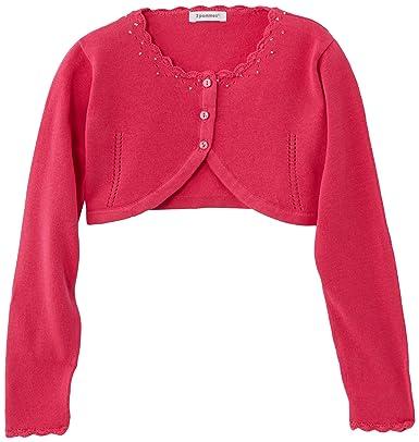 86d918af46d6 3 Pommes Girl s CARDIGAN Jumper - Pink - Rose Clair (Fuchsia) - 3 ...