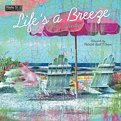 amazon com patrick reid o brien life s a breeze 2018 monthly wall