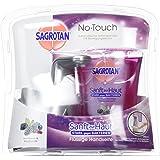 Sagrotan No-Touch Automatischer Seifenspender Silber inkl. Nachfüller Brombeere & Waldfrüchte, Flüssige Handseife, 1er Pack (1 x 250 ml)