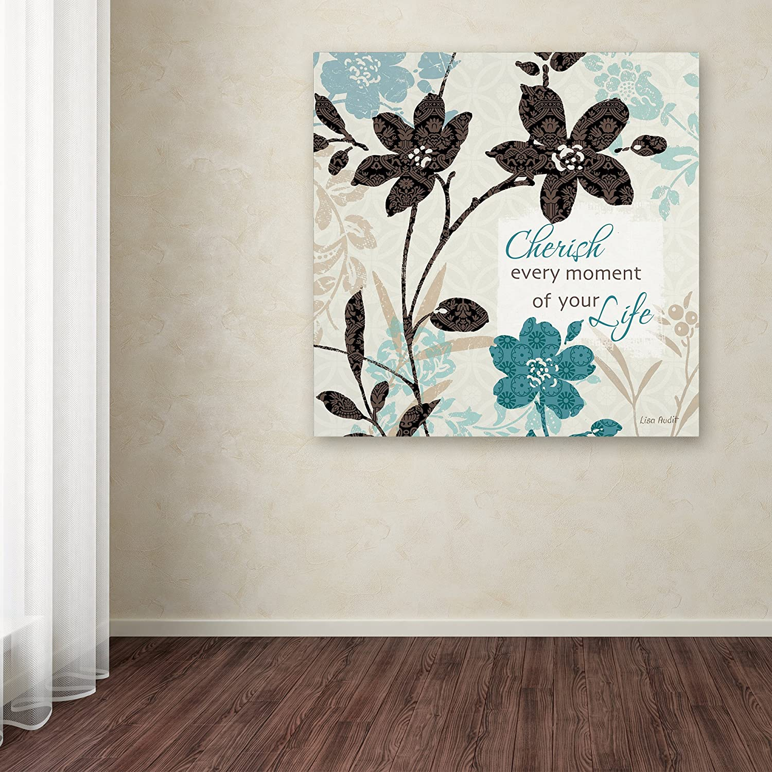 Amazon Com Botanical Touch Quote I Wall Decor By Lisa Audit 14 X 14 Canvas Wall Art Posters Prints