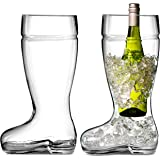 Das Boot Huge Beer Glasses, Set of 2, 1 L, Clear