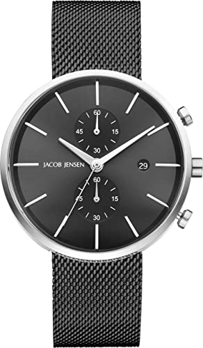 4a5452447 Jacob Jensen Mens Chronograph Quartz Watch with Stainless Steel Strap  JJ626  Amazon.co.uk  Watches