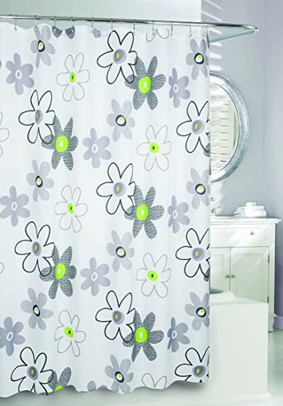 Moda At Home 204379 Whimsy Water Repellent Fabric Shower Curtain 71 Inch X