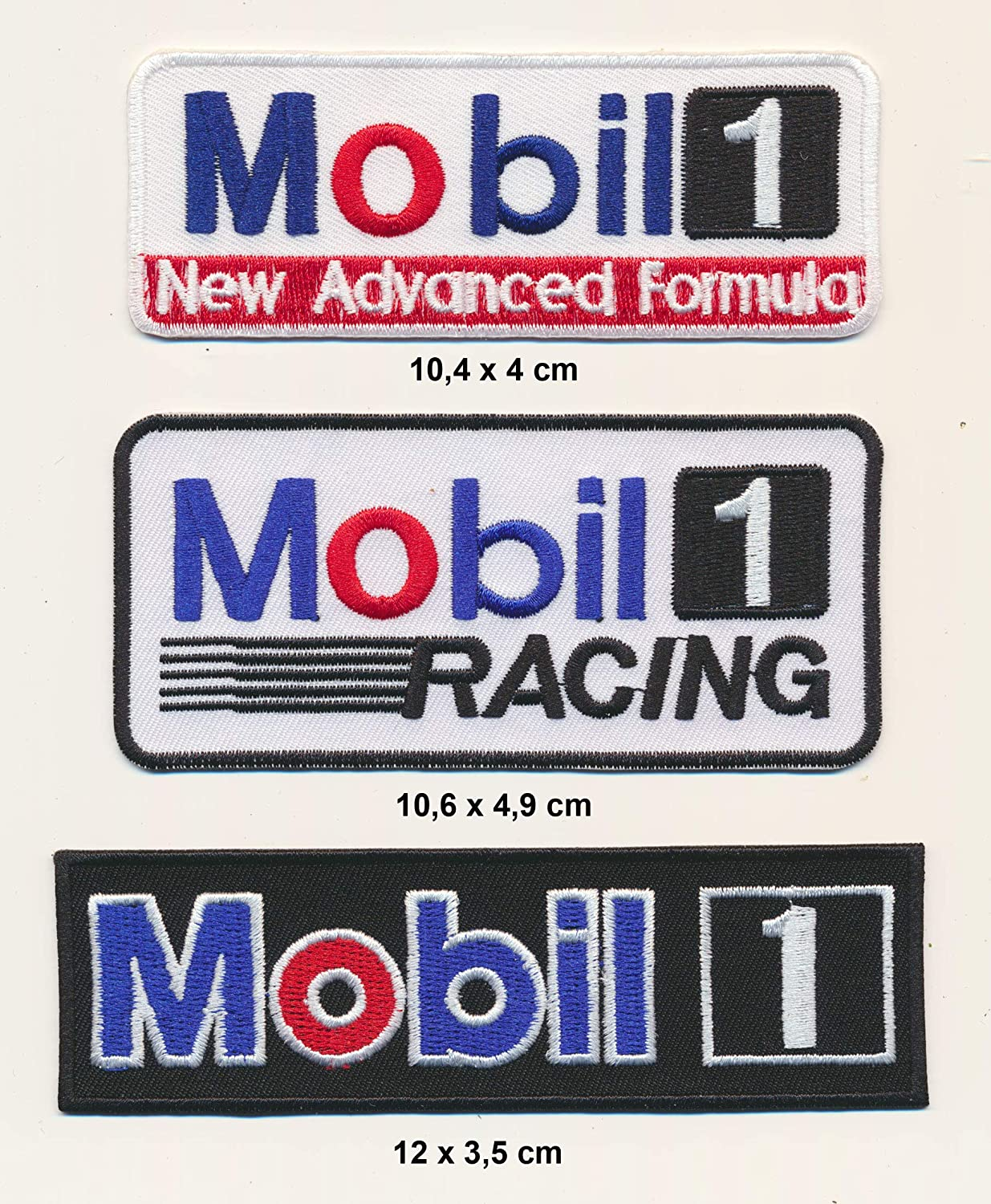 Racing Classics Mobil Lot de 3 /écussons /à Coudre pour Motos de Course