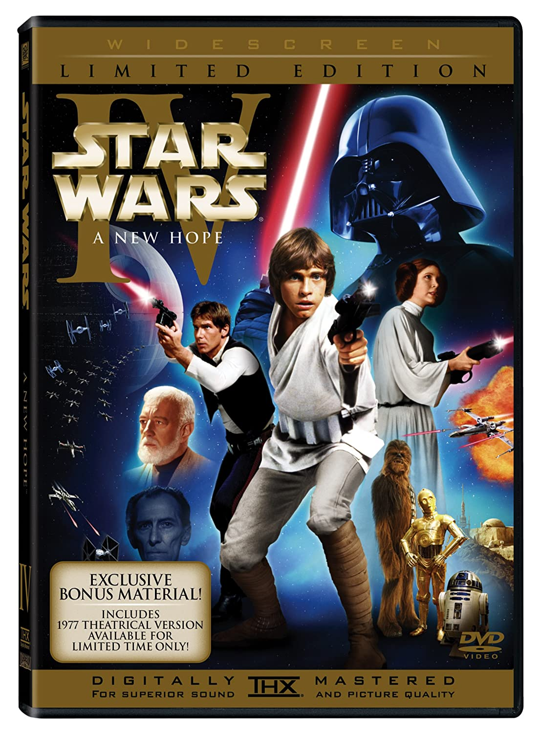 Amazon Com Star Wars Episode Iv A New Hope Limited Edition Mark Hamill Harrison Ford Carrie Fisher Alec Guinness Peter Cushing Anthony Daniels Kenny Baker Peter Mayhew David Prowse Phil Brown Shelagh Fraser