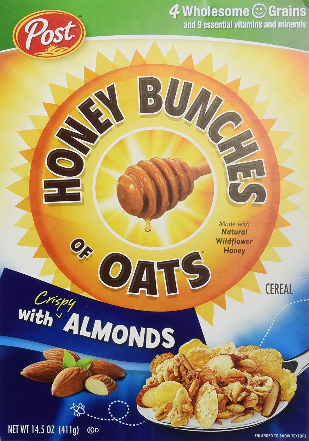 Amazon honey bunches of oats with almonds 145 ounce boxes amazon honey bunches of oats with almonds 145 ounce boxes pack of 4 cold breakfast cereals ccuart Choice Image