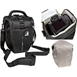 Sacchetto della macchina fotografica BODYGUARD Colt L con parapioggia per tutte le fotocamere reflex con lenti fino a 22 centimetri, come Canon EOS 1200D 1300D 2000D 4000D 700D 750D 760D Nikon D3300 D3400 D5300 D5500 D5600 D7100 D7200 D7500 D750