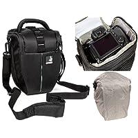 Holster bag Bodyguard Colt L Camera bag with rain cover for all SLR cameras with lenses up to 22 cm such as Canon EOS 70D 77D 80D 200D 1300D 700D 750D 760D 77D 800D Nikon D3300 D3400 D5100 D5300 D5500 D5
