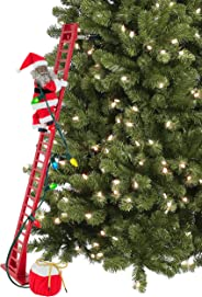 Mr. Christmas 37221 Super Climbing African American Santa Holiday Decoration, One Size, Multi
