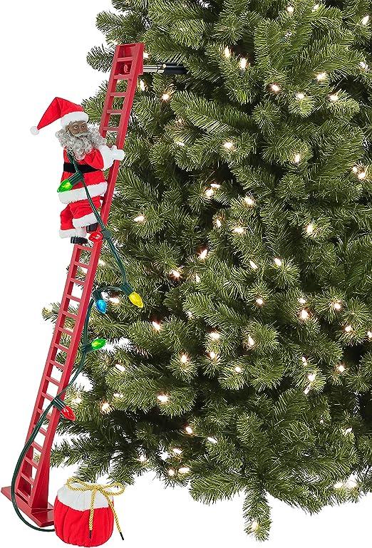 "Mr Christmas Super Climbing Santa 40/"" Tall Animated and Plays Christmas Carols"