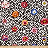 Kaffe Fasset Collective Guinea Flower White Fabric By The Yard