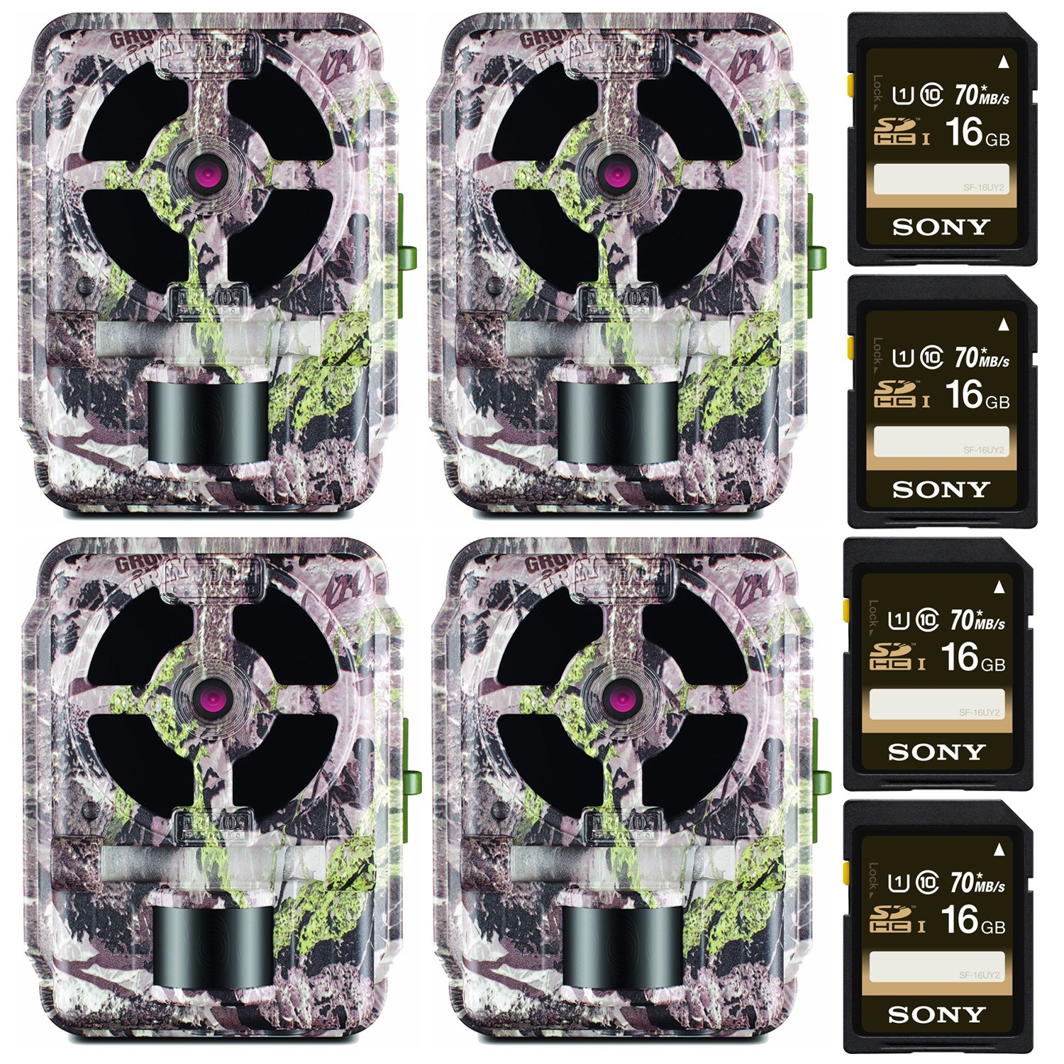 Primos 12MP Proof 46 Matrix Trail Camera (Low Glow) - Set of 4 with Memory Cards