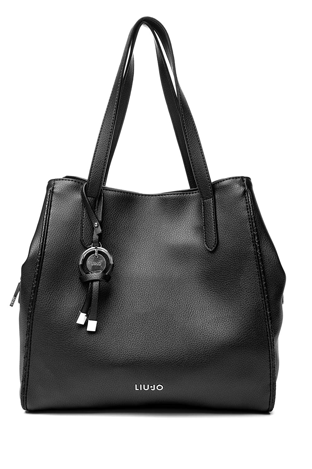 LIU JO Creativa Satchel M Nero: Amazon.it: Scarpe e borse