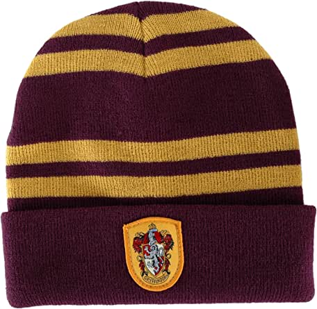 elope Harry Potter Gryffindor Knit Beanie Hat for Women Red