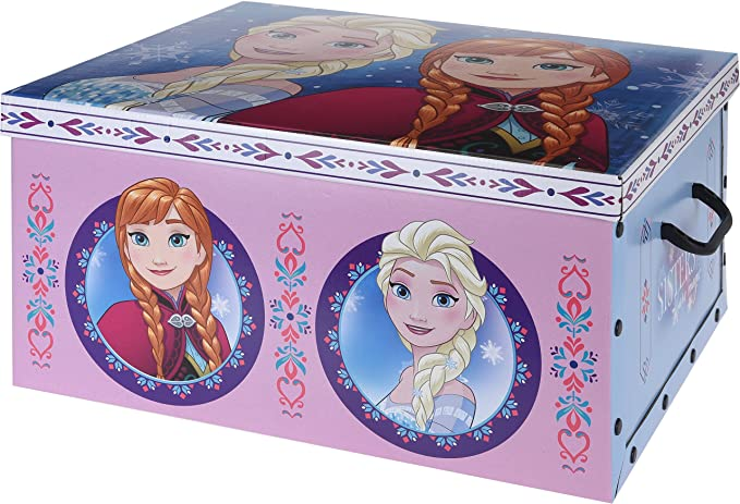 Caja aLmacenaje infantil de carton modelo frozen: Amazon.es ...