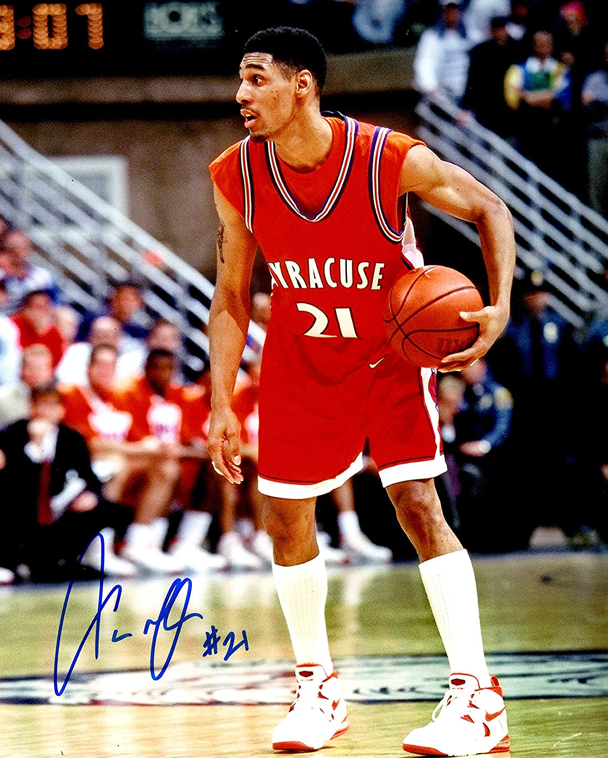 Autographed Lawrence Moten 8x10 Syracuse University Photo