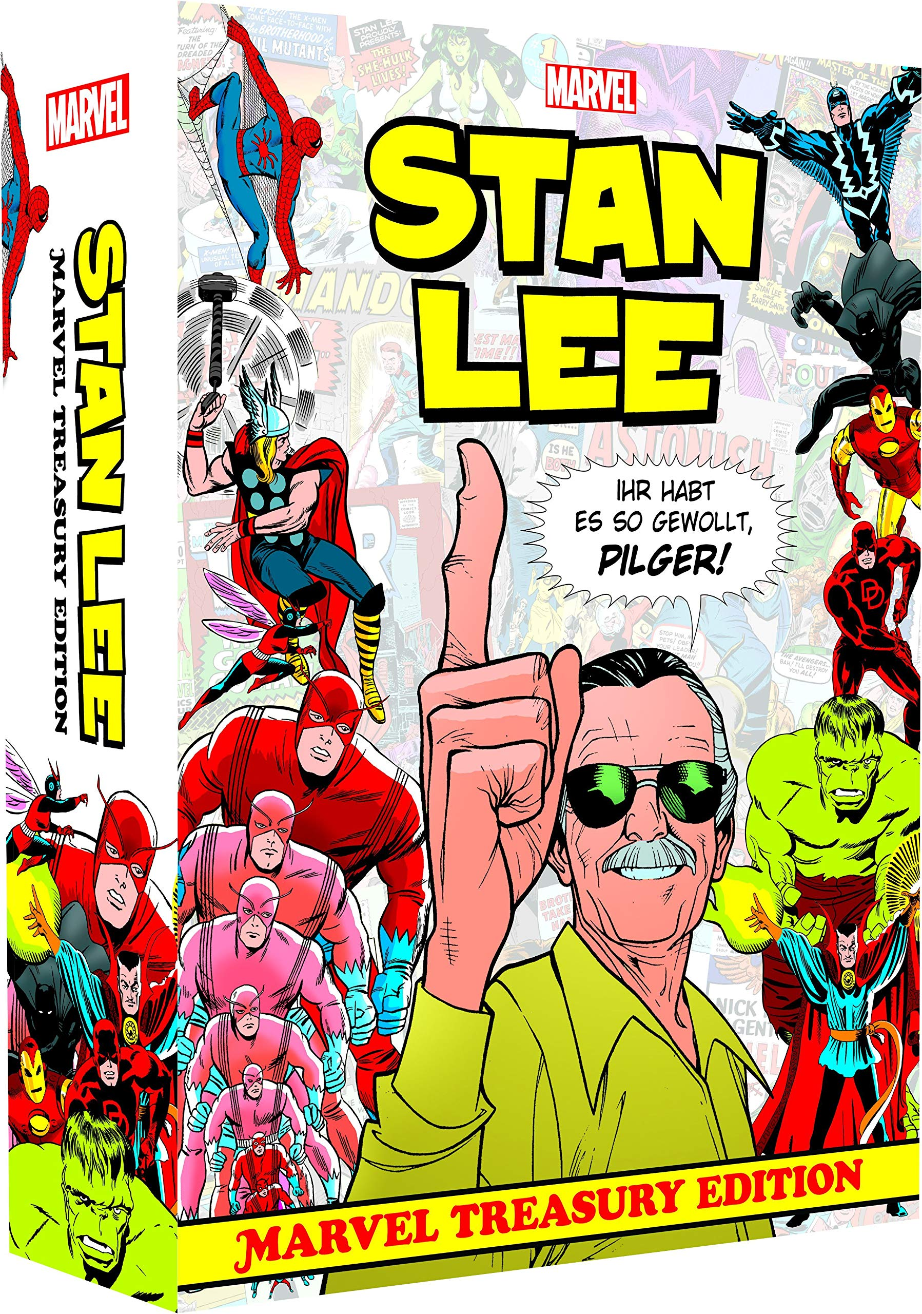 Stan Lee: Marvel Treasury Edition: (Hardcover-Überformat im Schuber und bedruckten Umkarton)