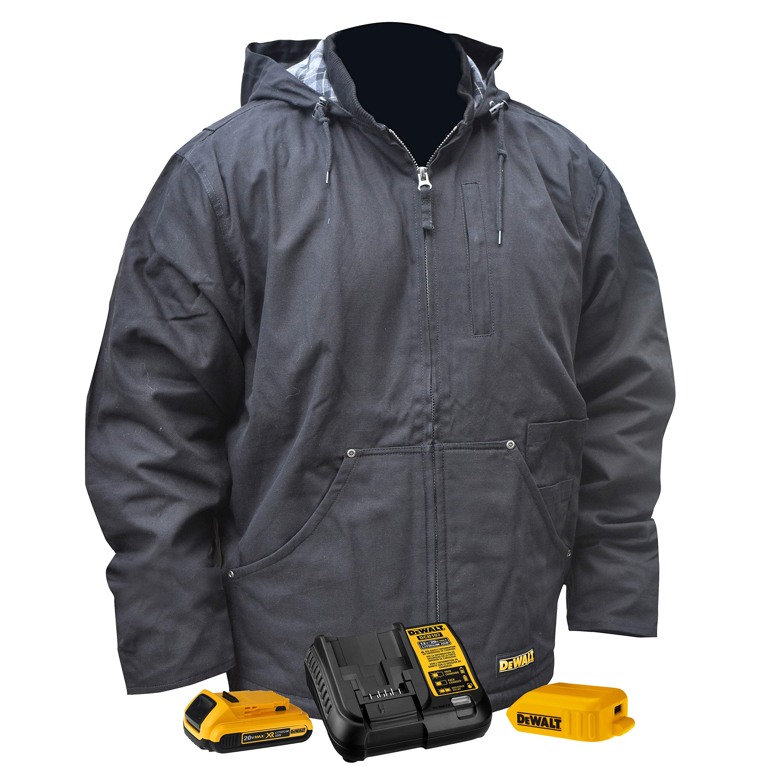 DEWALT DCHJ076ABD1-M Heated Heavy Duty Work COAT, M, Black by DEWALT (Image #1)