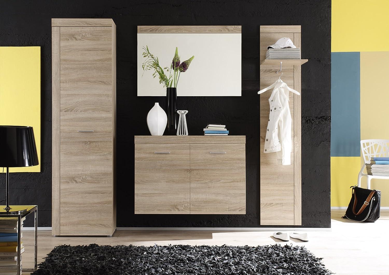 Trendteam Garderoben Set 4 Teilig, Eiche Sägerau Hell, 222 X 195 X 35 Cm:  Amazon.de: Küche U0026 Haushalt