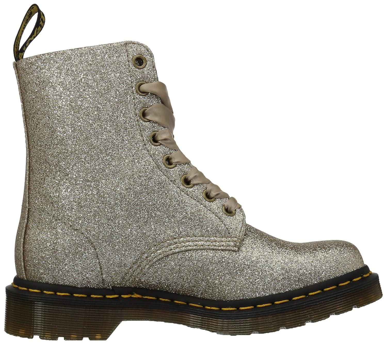 Dr. Martens Women's 1460 Pascal Glitter Fashion Boot B078ZK75FB 9 Medium UK (11 US)|Pale Gold