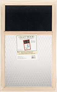 Darice 9190-9632 Unfinished Chalk Board with Chicken Wire, 13.75 by 22-Inch