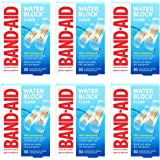Band-Aid Brand Water Block Clear Waterproof Sterile Adhesive Bandages for First-Aid Wound Care of Minor Cuts and Scrapes…