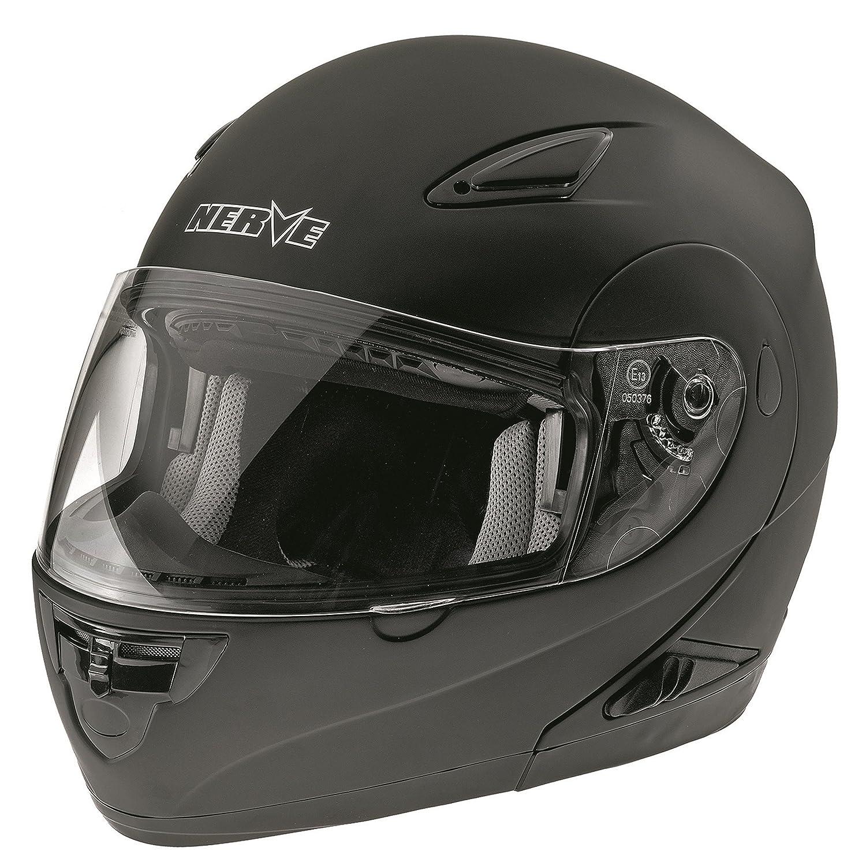 NERVE 1519030602_03 NH5008 Flip-Up Helmet, Black/Blue, Medium Kang Qi