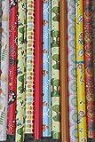 10Rollos de papel de regalo, diseño de diferentes colores y cada rollo de 200x 70cm