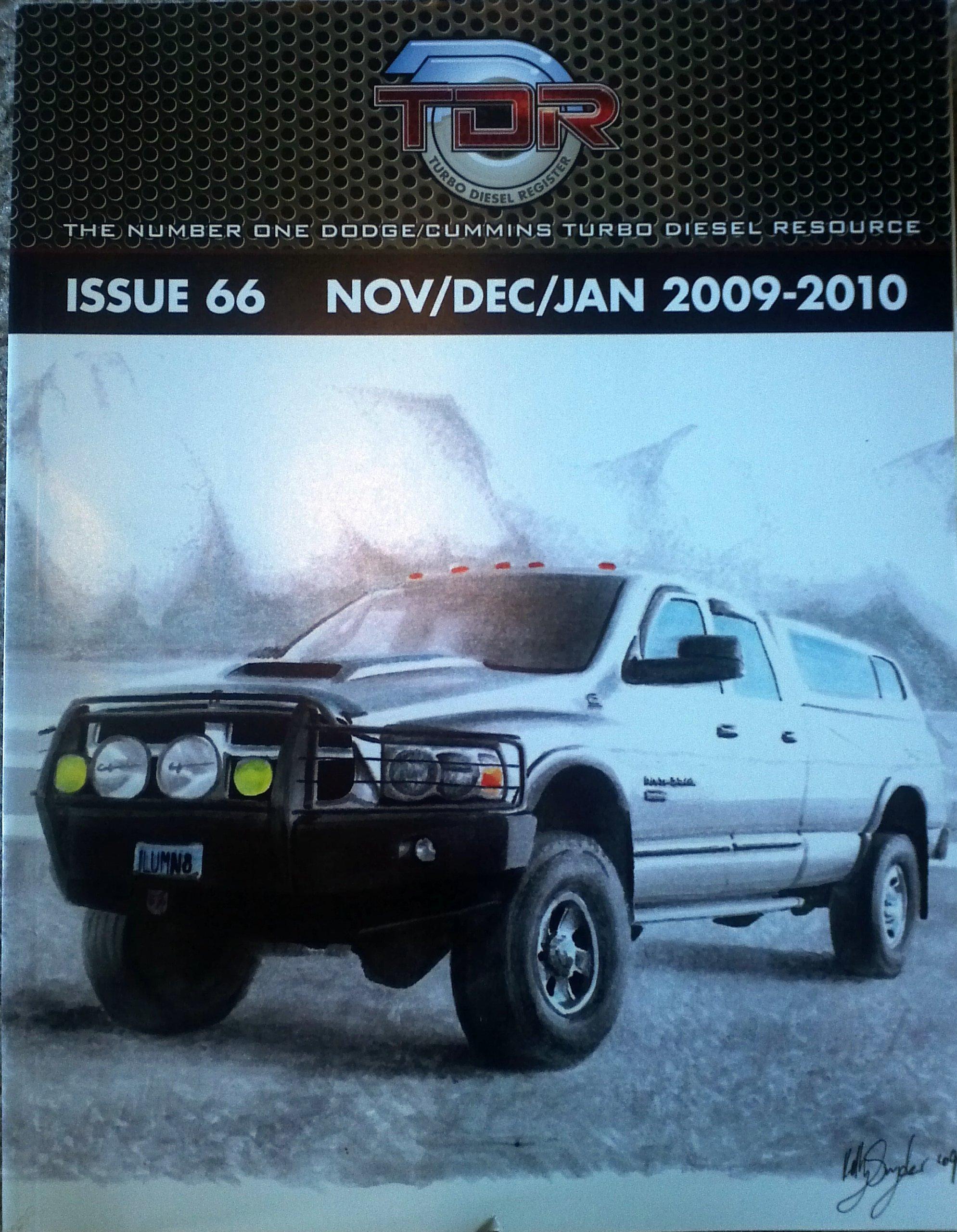 TDR Turbo Diesel Register Issue 66 Nov Dec Jan 2009 2010 Turbo