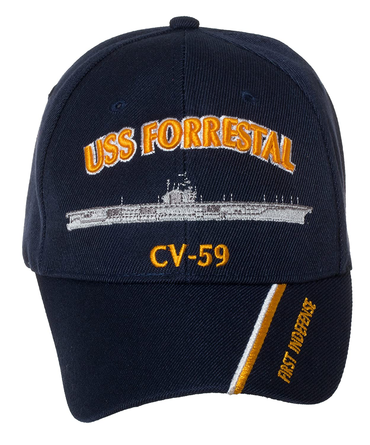 Artisan Owl Officially Licensed USS Forrestal CV-59 Embroidered Navy Blue  Baseball Cap at Amazon Men s Clothing store  2637e7bb1ee