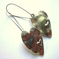 Boho And Bold Heart Earrings Silver Plated Nickel And Lead Free Sensitive Skin