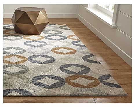 Crate and Barrel Destry Contemporary Handmade 100% Wool Rugs & Carpets  (5\'x8\')