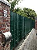 "Frangivista Sigma per recinzione metallica 26 metri in verde muschio, ""Made in Germany""."