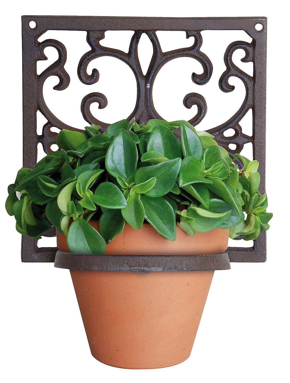 superb wall plant holders. Esschert Bph14 19 x 15cm Flower Pot Holder Classic 1 Cast Iron  Brown Amazon co uk Garden Outdoors