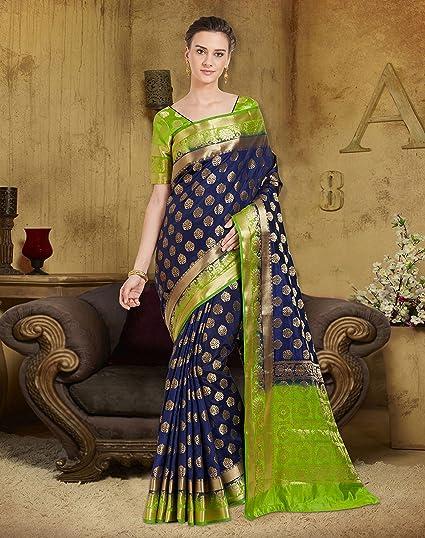Women's Banarasi Art Silk Saree with Un-Stiched Blouse Piece,Free Size